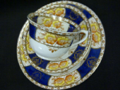 Gladstone china Navy 'Imari' tea trio
